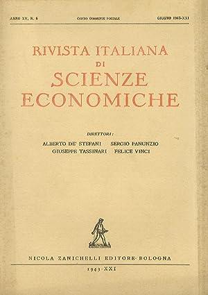 RIVISTA italiana di scienze economiche. Direttori Alberti