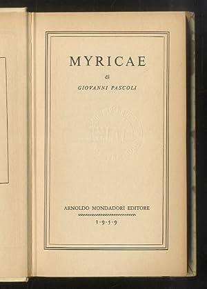 Myricae.: PASCOLI Giovanni.