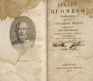 Iliade di Omero traduzione del cav. Vincenzo: HOMERUS [OMERO].