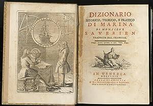Dizionario Istorico, Teorico, e pratico di Marina.: saverien Alexandre.