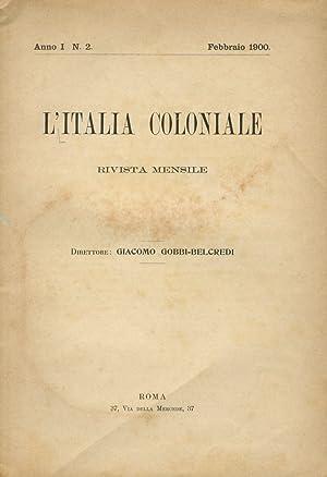 ITALIA (L') coloniale. Rivista mensile. direttore Giacomo