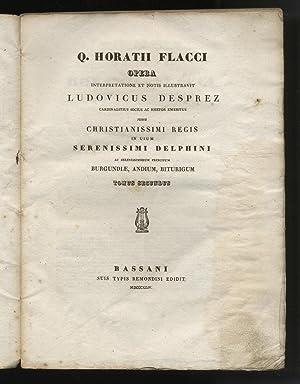 Quinti Horatii Flacci Opera interpretatione et notis: HORATIUS Flaccus Quintus