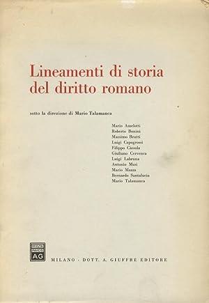 Lineamenti di storia del diritto romano.: talamanca mario. (Sotto