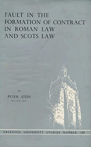 Fault in the formation of contract in roman law and scots law.