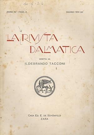 Rivista (La) Dalmatica. Diretta da Ildebrando Tacconi.