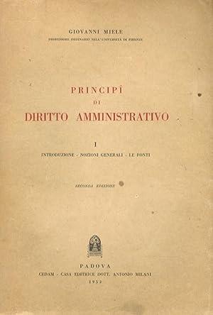 Principî di diritto amministrativo. Introduzione - Nozioni: MIELE Giovanni.