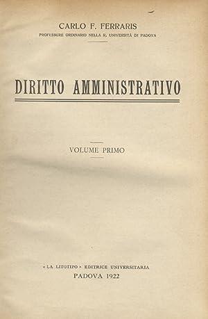 Diritto amministrativo.: FERRARIS Carlo F.