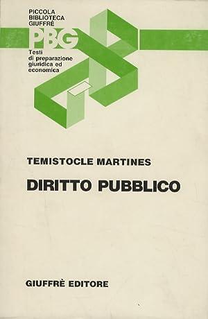 Diritto pubblico.: MARTINES Temistocle.