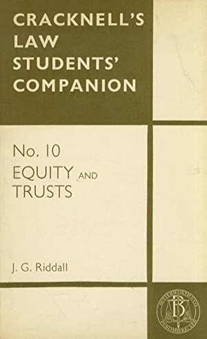 Cracknell's Law Students' Companion. No. 10: Equity and Trusts.