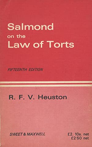 Salmond on the Law of Torts. Fifteenth Edition.