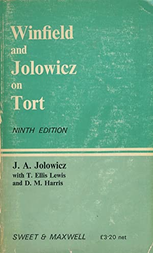Winfield and Jolowicz on Tort. Ninth Edition.