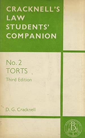 Cracknell's Law Students' Companion. No. 2: Torts. Third Edition.