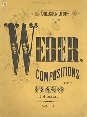 Weber conpositions pour le piano à 4 mains. Vol. II.