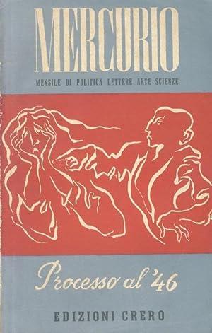MERCURIO. Mensile di politica, lettere, arte scienze.