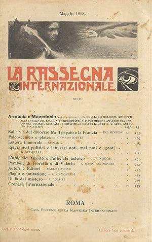 Rassegna (La) Internazionale. Pubblicazione mensile. Direttore: R.