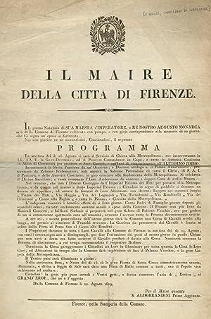 Il maire della città di Firenze. Il: FIRENZE, COMPLEANNO DI