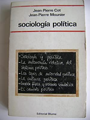 SOCIOLOGIA POLITICA: JEAN-PIERRE COT y