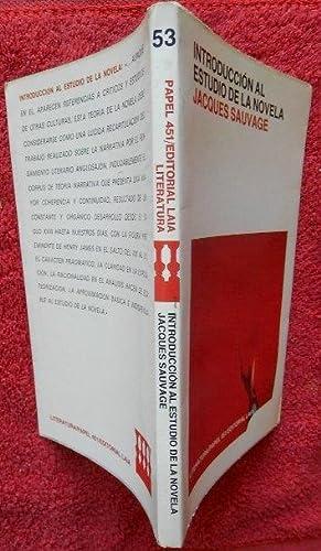 Introducción al estudio de la novela: Sauvage, Jacques