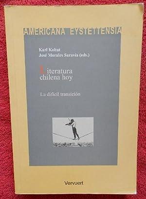 Literatura chilena hoy. La difícil transición: Karl Kohut, José