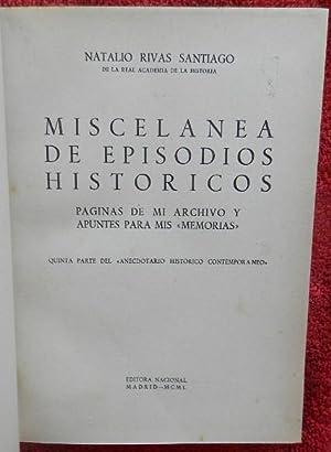 Miscelánea de episodios históricos. Páginas de mi: Rivas Santiago, Natalio