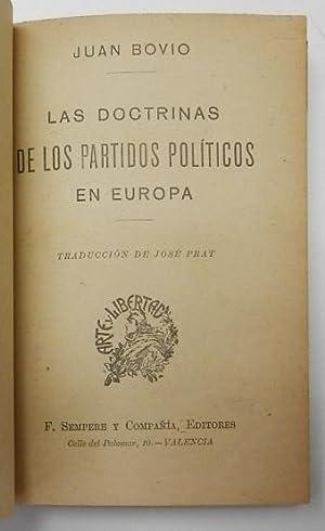 Las doctrinas de los partidos políticos en Europa: Juan Bovio