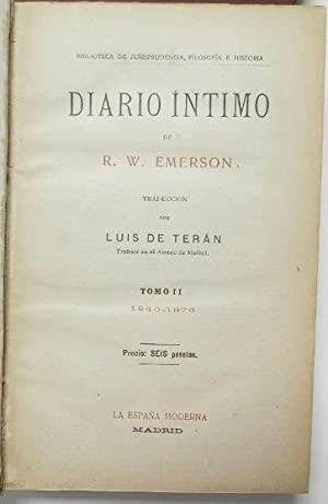 Diario íntimo (2 tomos): Emerson, R.W.