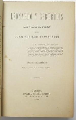 Leonardo y Gertrudis: Pestalozzi, Juan Enrique