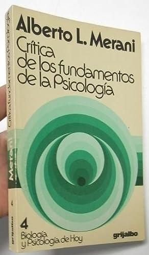 Crítica de los fundamentos de la psicología: Merani, Alberto L.