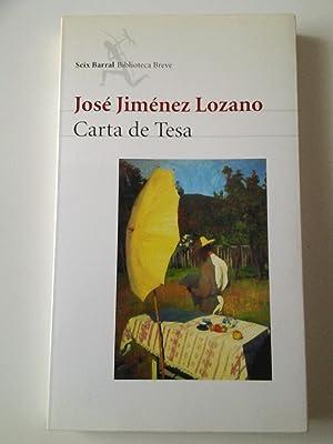 Carta de Tesa (Primera edición): José Jiménez Lozano