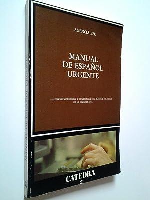 Manual de español urgente (4ª edición corregida: Agencia Efe