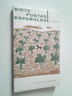 Siete poetas españoles. Antologia: VV. AA. Carlos