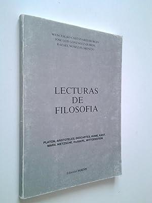 Lecturas de filosofía. Platón, Aristóteles, Descartes, Hume,: Wenceslao Castañares Burcio