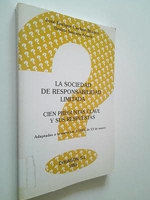 La sociedad de responsabilidad limitada. Cien preguntas: José Enrique Cachón
