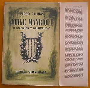 Jorge Manrique o tradición y originalidad: Salinas Pedro