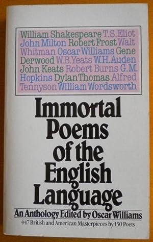 Immortal Poems of the English Language: Shakespeare William -