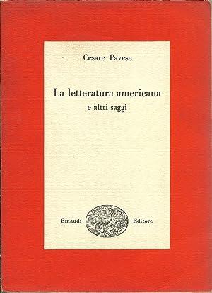 La letteratura americana e altri saggi.: PAVESE Cesare,