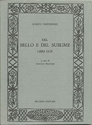 Del bello e del sublime.Libri due.