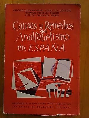 CAUSAS Y REMEDIOS DEL ANALFABETISMO EN ESPAÑA: VV. AA