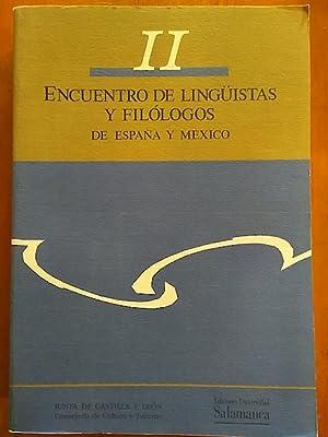 II ENCUENTRO DE LINGÜISTAS Y FILÓLOGOS DE: ALEGRÍA ALONSO /