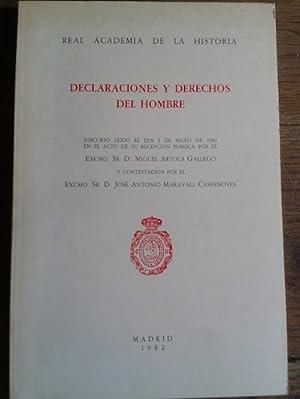 DECLARACIONES Y DERECHOS DEL HOMBRE. Discurso leído