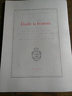 DESDE LA FRONTERA. Discurso leído por JOSÉ