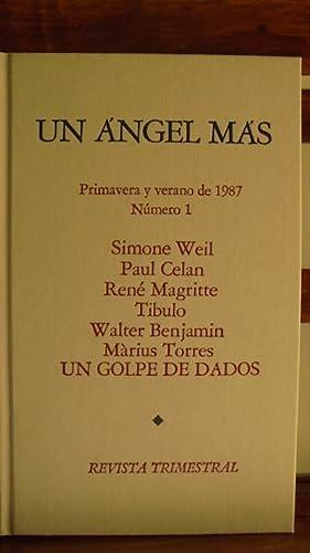 UN ÁNGEL MÁS. REVISTA TRIMESTRAL. Nº 1.: SIMONE WEIL/PAUL CELAN/RENÉ