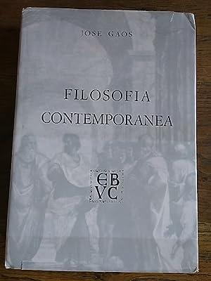 FILOSOFÍA CONTEMPORÁNEA: Gaos, José