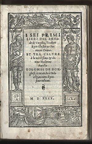 I sei primi libri del Eneide di: VERGILIUS Publius Maro