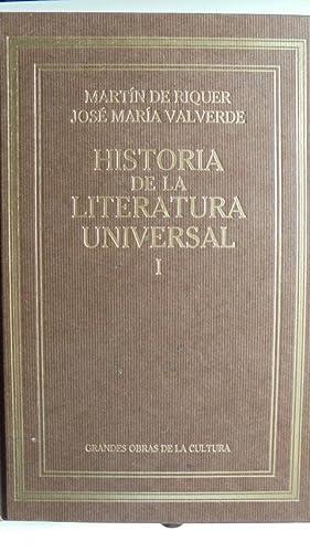 HISTORIA DE LA LITERATURA UNIVERSAL. Tomo I.: MARTÍN DE RIQUER