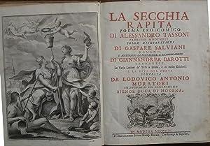 LA SECCHIA RAPITA.: TASSONI ALESSANDRO (Modena