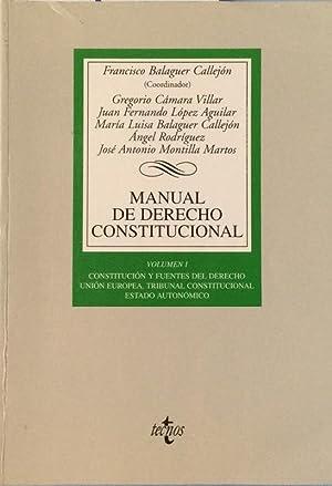 Manual de Derecho Constitucional Vol. I: Aa. Vv.