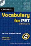 CAMBRIDGE VOCABULARY FOR PET WITH ANSWERS + CD