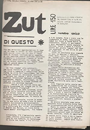 Zut Numero unico Supplemento a Stampa Alternativa