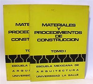 MATERIALES Y PROCEDIMIENTOS DE CONSTRUCCIÓN - Obra Completa (2 Tomos): VV.AA. Escuela ...
